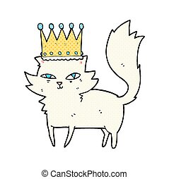 cartoon posh cat - freehand drawn cartoon posh cat