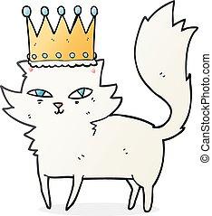 cartoon posh cat