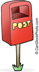 cartoon post box
