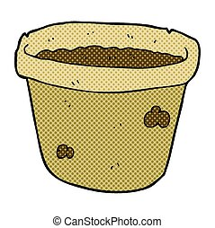 cartoon pot of earth