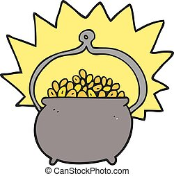 cartoon pot of gold