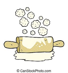 cartoon rolling pin - freehand drawn cartoon rolling pin