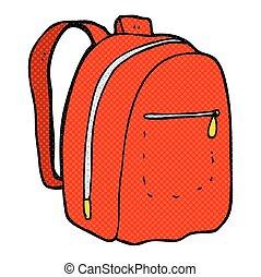 cartoon rucksack - freehand drawn cartoon rucksack