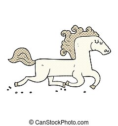 cartoon running horse