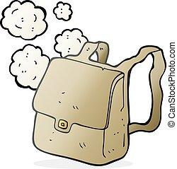 cartoon satchel - freehand drawn cartoon satchel