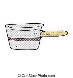 cartoon saucepan - freehand drawn cartoon saucepan