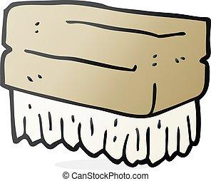 cartoon scrubbing brush - freehand drawn cartoon scrubbing...
