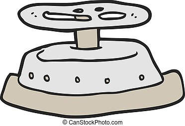 freehand drawn cartoon sealed bunker door