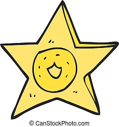 cartoon sheriff badge