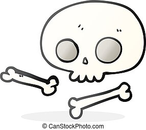cartoon skull and bones