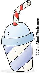 cartoon soda drink cup