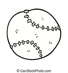 cartoon sports ball - freehand drawn cartoon sports ball