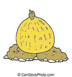 cartoon squash - freehand drawn cartoon squash