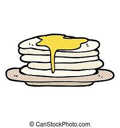 cartoon stack of pancakes