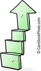 cartoon stepping up arrow - freehand drawn cartoon stepping...