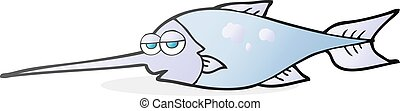 cartoon swordfish