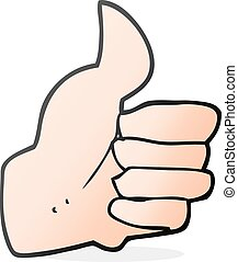 cartoon thumbs up symbol - freehand drawn cartoon thumbs up ...