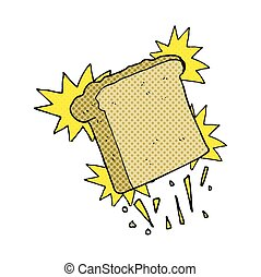 cartoon toast - freehand drawn cartoon toast