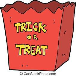cartoon trick or treat bag