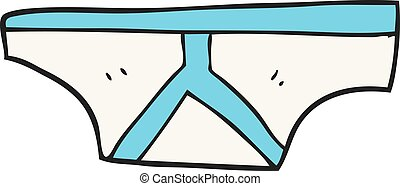 cartoon underpants - freehand drawn cartoon underpants