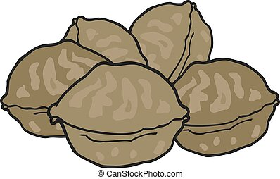 cartoon walnuts
