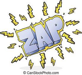 cartoon zap symbol