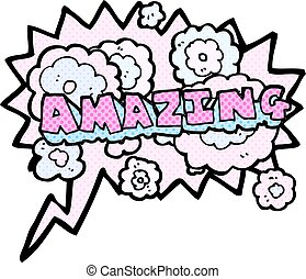 comic book speech bubble cartoon amazing word