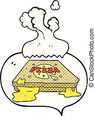 comic book speech bubble cartoon pizza