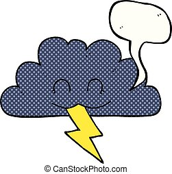 comic book speech bubble cartoon storm cloud