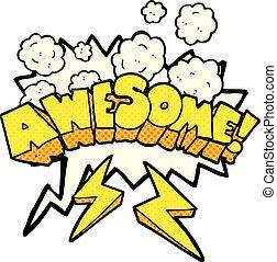 comic book speech bubble cartoon word awesome