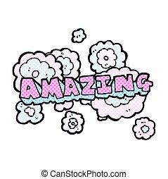 comic book style cartoon amazing word