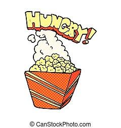 comic book style cartoon fresh popcorn