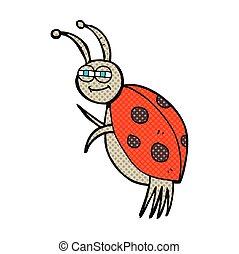 comic book style cartoon ladybug