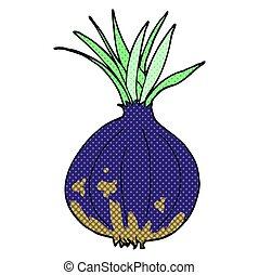 comic book style cartoon onion