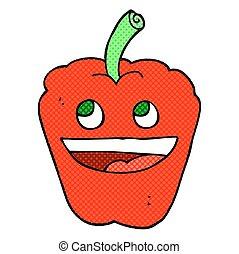 comic book style cartoon pepper