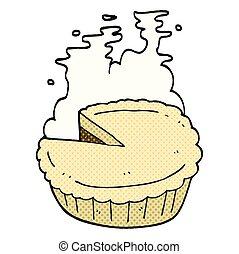 comic book style cartoon pie