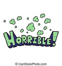 comic book style cartoon word horrible