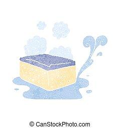 retro cartoon sponge