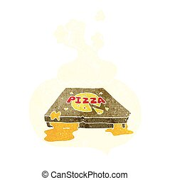 retro speech bubble cartoon pizza