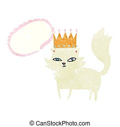 retro speech bubble cartoon posh cat
