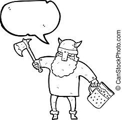 speech bubble cartoon drunk viking
