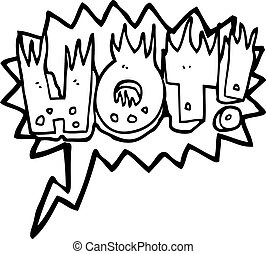 speech bubble cartoon hot symbol