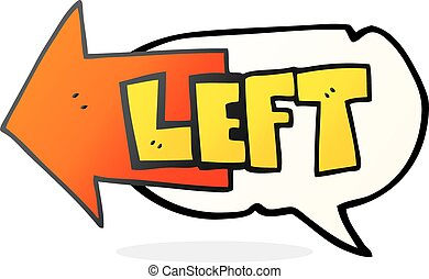 speech bubble cartoon left symbol - freehand drawn speech ...