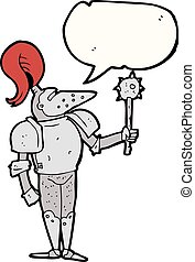 speech bubble cartoon medieval knight