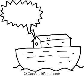 speech bubble cartoon noah's ark