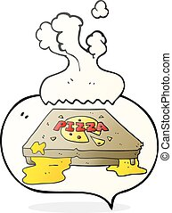 speech bubble cartoon pizza