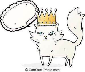 speech bubble cartoon posh cat