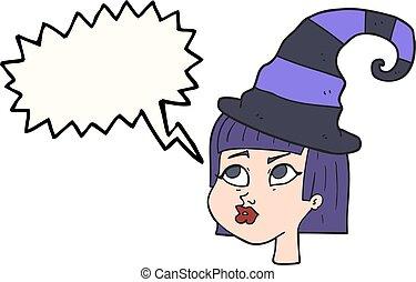 speech bubble cartoon witch
