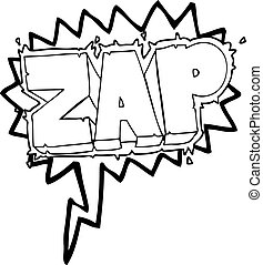 speech bubble cartoon zap symbol