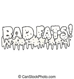 texture cartoon bad fats - freehand drawn texture cartoon...